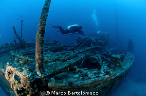 Lina Wreck on Cres Island Croazia by Marco Bartolomucci 
